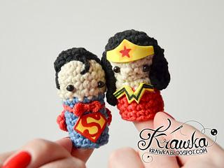 4fd7d6b3c4d Ravelry  Superheroes finger puppets set pattern by Kamila Krawka Krawczyk