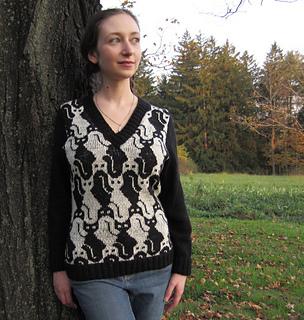 Cat V-Neck pattern by Kate Bellando