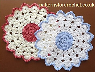 Pattern For Placemats For Round Table.Ravelry Pfc110 Round Table Mat Pattern By Patterns For Crochet