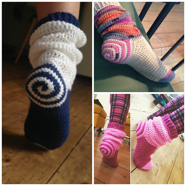 Ravelry Spiral Socks Pattern By Ooh I Love It Mesmerizing Crochet Sock Pattern
