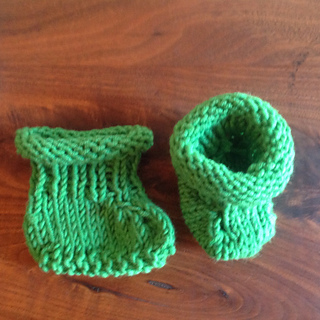 33f3a214c Ravelry  Simple Seamless Baby Booties pattern by Joy Morgan