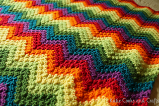 Ravelry Rumpled Ripple Rainbow Baby Afghan Pattern By