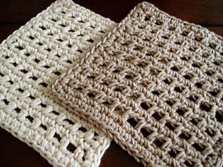 Ravelry waffle crochet dishcloth pattern by kate alvis dt1010fo