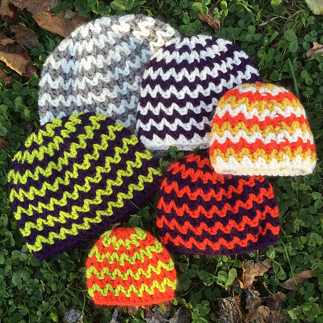 Ravelry Quick And Simple Chevron Hat Pattern By Kayla Pins