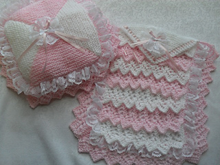 27cd92ed838b Ravelry  dolls layers pram cot blanket and pillow pattern by karen ...