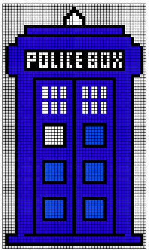 Ravelry Doctor Who Tardis Blanket Pattern By Kejsarinna
