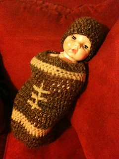 Ravelry  Crochet Football Cocoon pattern by Sick  Lil Monkeys dca53f8d85d