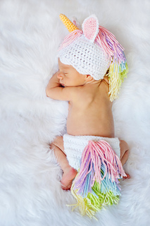 Ravelry  Unicorn Hat and Diaper Cover Newborn - 12 Months pattern by Briana  K Designs beba477fa34