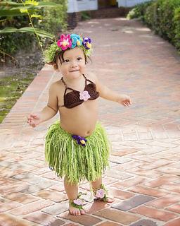 f24f949e7d2bf Ravelry: Hula Girl / Luau Set Newborn-Teen pattern by Briana K Designs