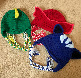 Ravelry  PJ Masks Inspired Hat pattern by Kimberly Hoyle 1002f9f9c61