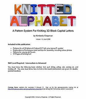 knitted alphabet 3d block letters pattern by kimberly chapman