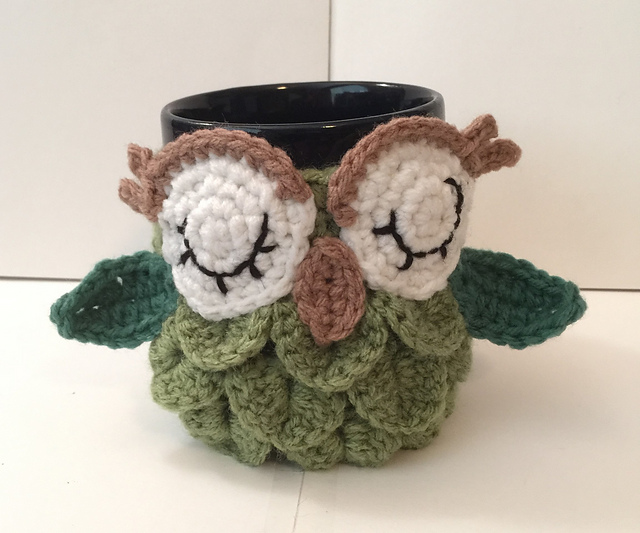 Ravelry Owl Coffeetea Mug Cozy Pattern By Katerina Cohee