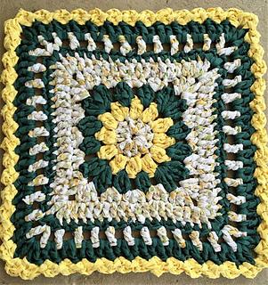 Ravelry Crochet Flower Square Rag Rug Pattern By Kelli J Bryan