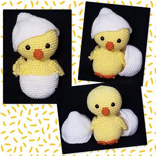 Ellis the Chick pattern by Kelli's Kreations
