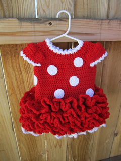 Ravelry Minnie Mouse Dress And Ears Pattern By Julie