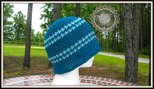 a2b3076166a Ravelry  Hounds Tooth Beanie Hat pattern by Kathy Lashley