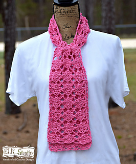How To Crochet Pink Scarf Free Pattern Tutorial For Beginners : Ravelry: Sweet Pink Spring Scarf pattern by Kathy Lashley