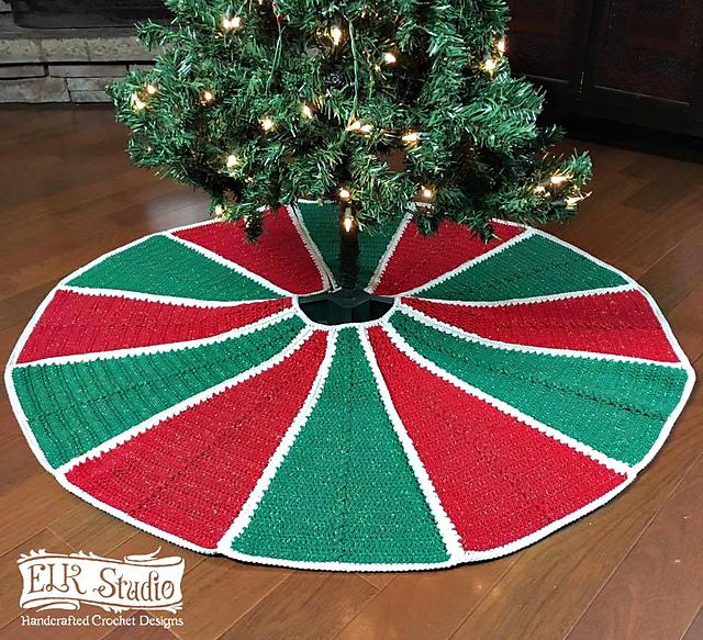 Ravelry Emory S Christmas Tree Skirt Pattern By Kathy Lashley