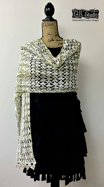 Ravelry Evening Elegance Wrap Pattern By Kathy Lashley