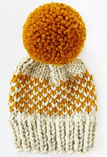 950a17711 Chunky Fair Isle Pom Pom Hat pattern by Destiny Meyer