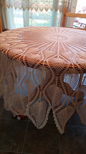 Round Pineapple Tablecloth 7592 Pattern By The Spool Ravelry