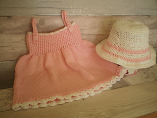 61638352415 Ravelry  Cotton Sun Dress and Hat pattern by Angela Turner