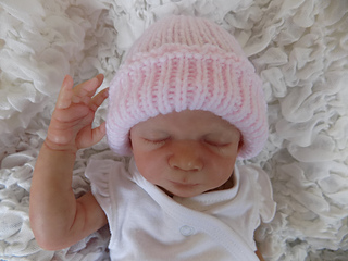 cb64de0f18a Ravelry  Premature Baby Rib Hat pattern by Angela Turner