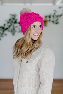 eb3e5ed9f82ea Ravelry  Snowfall Bobble Hat pattern by Annie Lupton