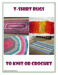 Ravelry T Shirt Rugs To Knit Or Crochet Pattern By Erica Fire