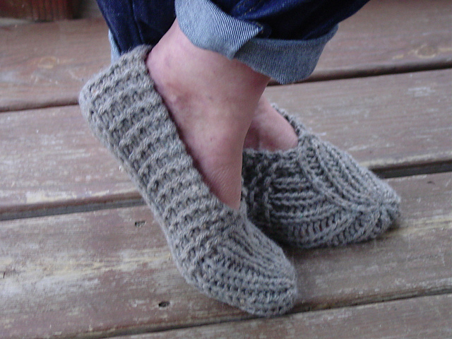 Slipper Knit Pattern Gallery Knitting Embroidery Designs Ideas
