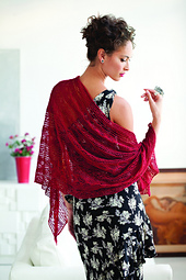 Knit_red_stole_model_small_best_fit