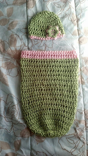 Ravelry Triple Crochet Newborn Cocoon And Hat Pattern By Lindsey
