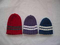 Family of Ribbed Hats PDF