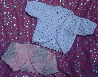Ravelry Dk Doll S Bolero Plain Amp Lacy Cardigan Pattern