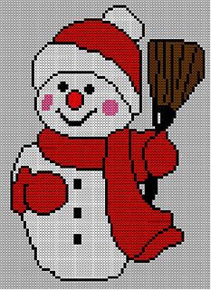 Ravelry Christmas Snowman Jumper Sweater Knitting Pattern 18
