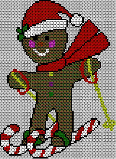 Ravelry Christmas Gingerbread Man Jumper Sweater Knitting Pattern