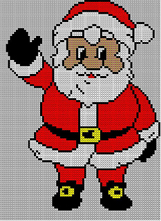 Ravelry Christmas Santa Jumper Sweater Knitting Pattern 15