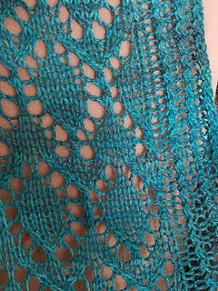 Ravelry Moroccan Tile Lace Wrap pattern by Krista Werbil