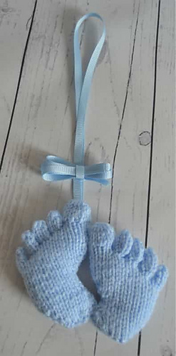 ravelry baby feet charm pattern by knitting by post