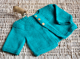 POP! baby cardigan pattern by Rachel Atkinson
