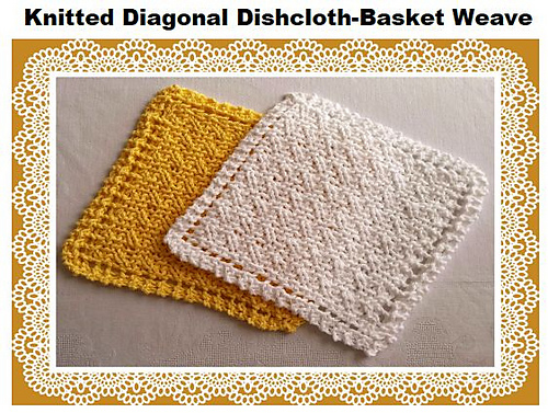 Ravelry: Diagonal Basket Weave Dishcloth pattern by Debby Decker