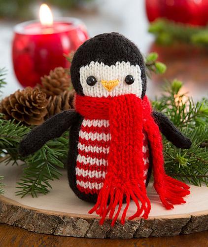 Knitting Patterns Free Links Cheerful Holiday Penguin Free Knitting