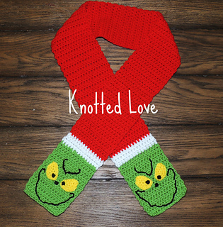 Grinch Scarf • Free Crochet Pattern on @Ravelry #crochet #grinch