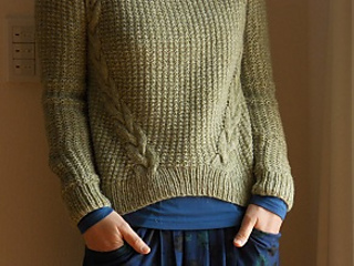 e69386464 Ravelry  Dagmar sweater pattern by Handy Kitty
