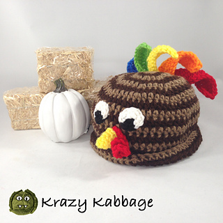 522cd81453b Ravelry  Little Turkey Hat pattern by Krazy Kabbage