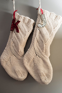 Knitting Christmas Stocking Pattern Free.Ravelry Chunky Cabled Stocking Pattern By Krystina Marie