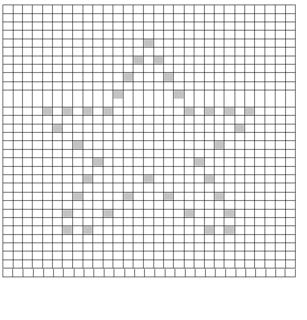 Ravelry Star Bobble Chart Pattern By Teri Heathcote