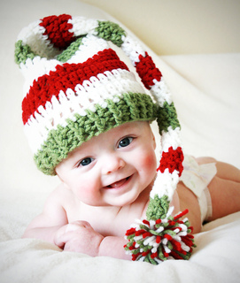 3b234ad78 Ravelry: Striped Long-Tail Elf Hat pattern by Kylie Marie Brown