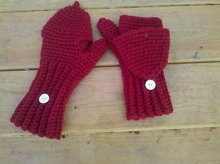 Free Crochet Patterns Flip Top Mittens : Ravelry: Crochet Flip-Top Mittens pattern by Kylie Marie Brown