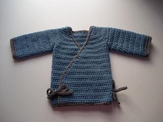 f4d9b96f1f56 Ravelry  Crochet Kimono Wrap Baby Sweater pattern by Kylie Marie Brown